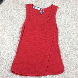 NWT knit Tunic coral size Medium